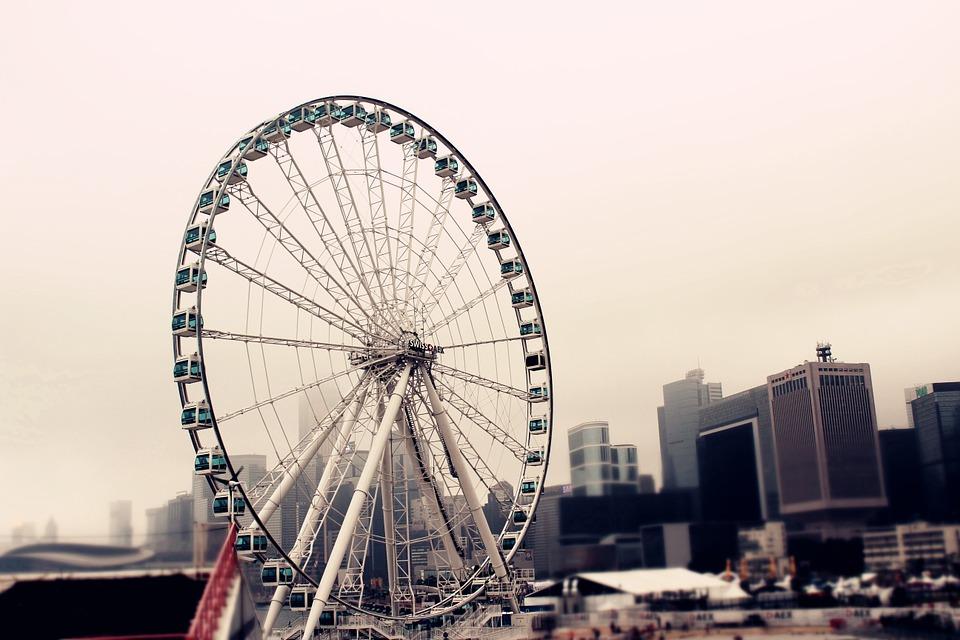 hongkongobservationwheel - Take a spin around the Hong Kong skyline. [A Thing To Do Tomorrow]