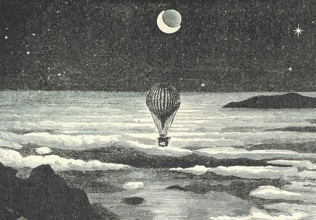 hotairballoonillustration - Go around the world. In a book. [ATTDT]