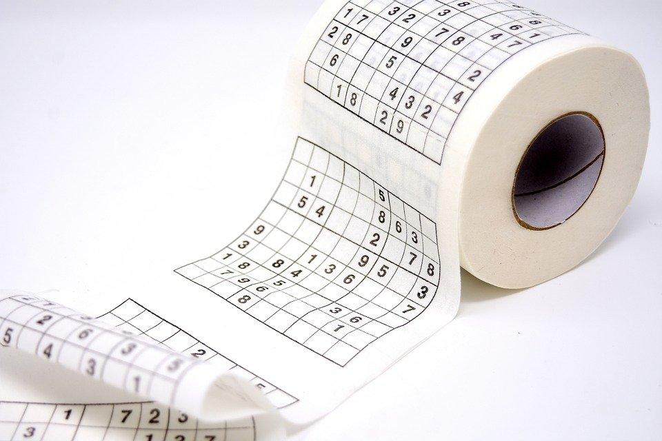 sudokutoiletpaper - Square up to a sudoku. [ATTDT]