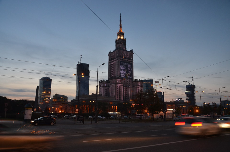 warsawpalaceofculturenight - See night descend on Warsaw. [ATTDT]